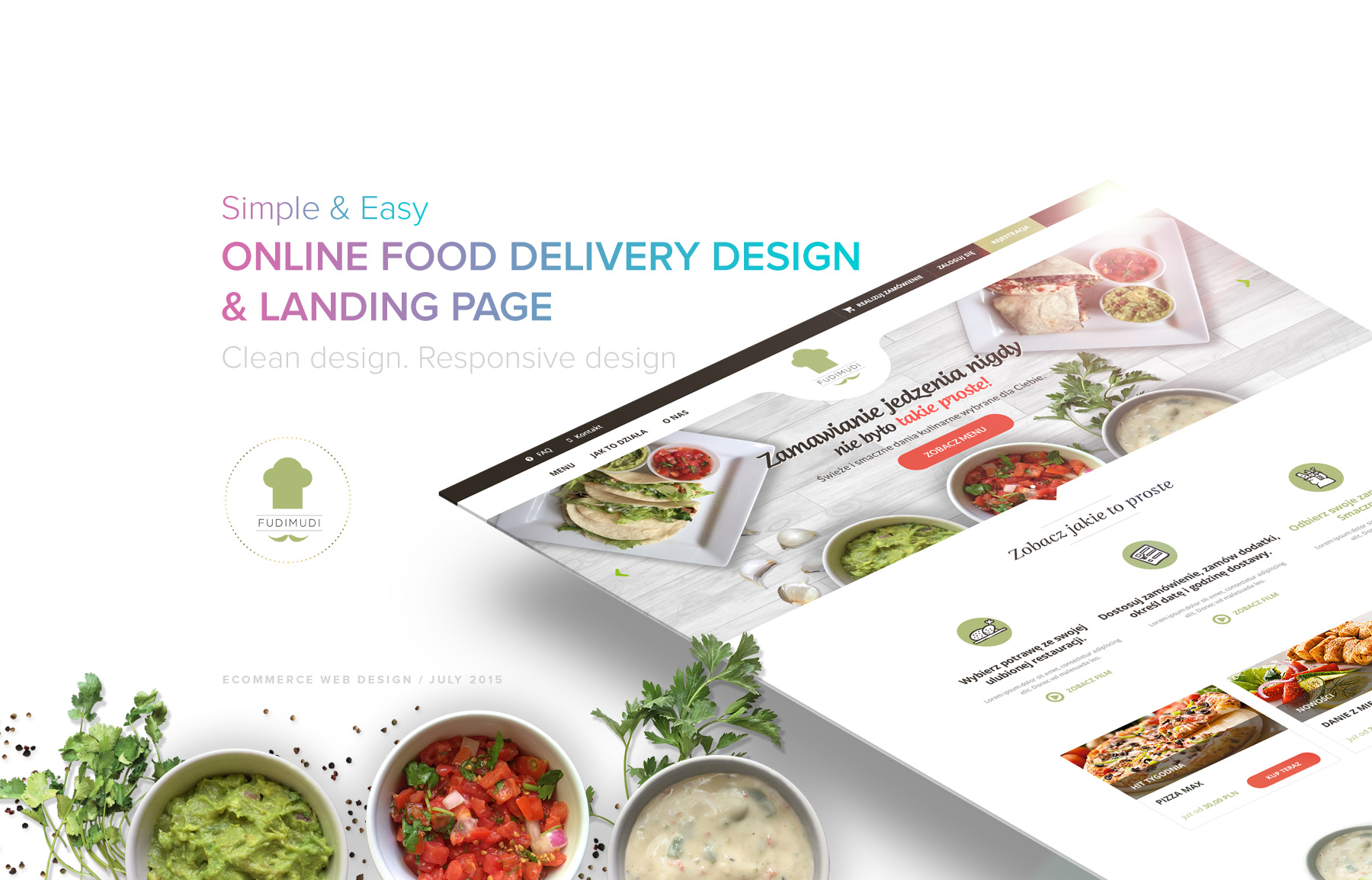 Responsive Ecommerce Landing Page Design